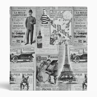 French Vintage Eiffel 3 Ring Binder