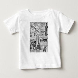 French Vintage Eiffel Baby T-Shirt