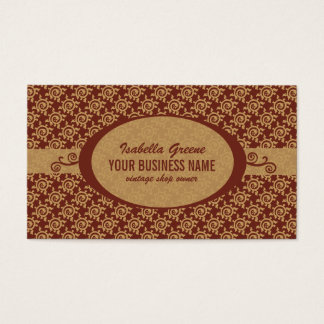 French Vintage Floral Pattern Business Card