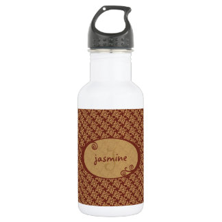 French Vintage Floral Pattern Stainless Steel Water Bottle