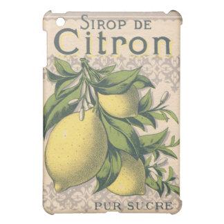 French Vintage Lemons Sirop de Citron iPad Mini Cases