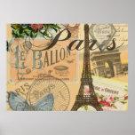 French Vintage Paris Travel Poster
