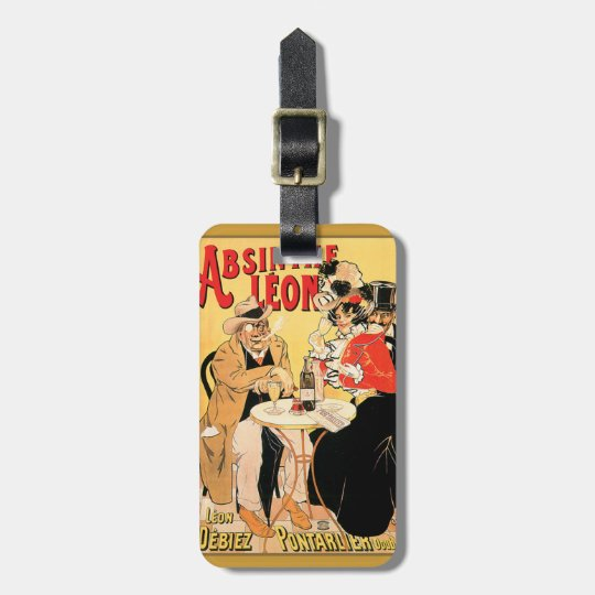 French vintage poster for Absinthe Luggage Tag