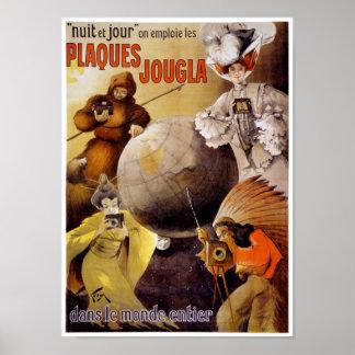 French Vintage Poster Restored