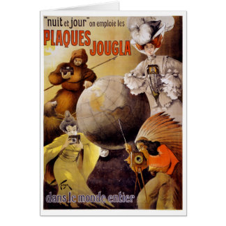 French Vintage Poster Restored Card