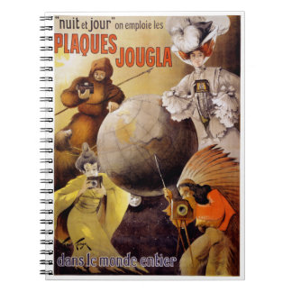 French Vintage Poster Restored Notebook