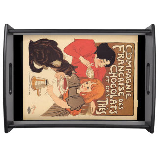French Vintage Poster Tray Serving Platters