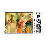 French Vintage Style Carriage Postage Stamps