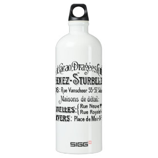 french vintage typography chocolate advert water bottle