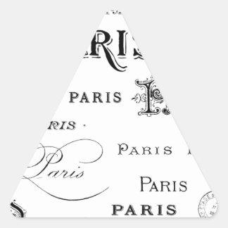 french vintage typography design Paris Triangle Sticker