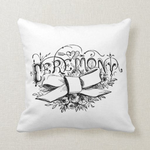 french vintage typography shabby chic cushion pillow Zazzle