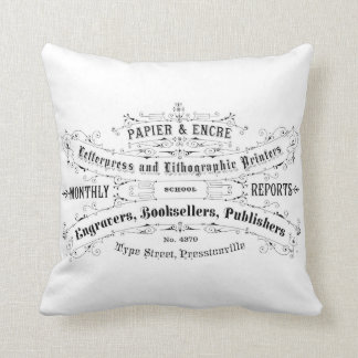 french vintage typography shabby chic cushion pillows
