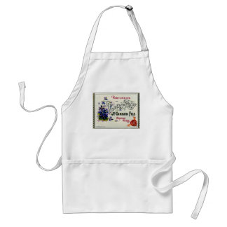French Violette Perfume Label Adult Apron