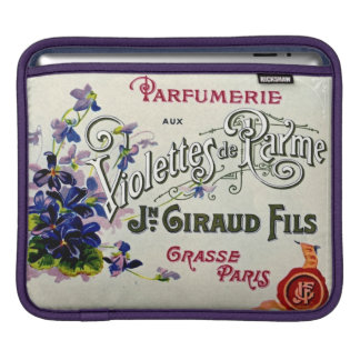 French Violette Perfume Label iPad Sleeve