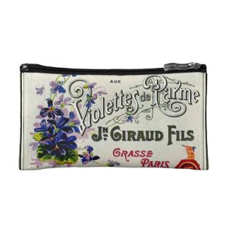 French Violette Perfume Label Makeup Bag