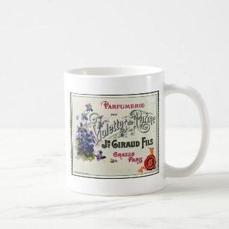 French Violette Perfume Label Coffee Mugs