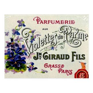 French Violette Perfume Label Postcard