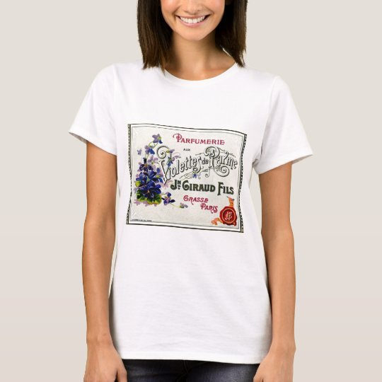 French Violette Perfume Label T-Shirt