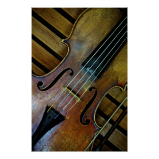 French Violin Poster