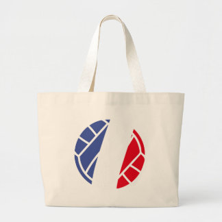 French volleyball icon jumbo tote bag