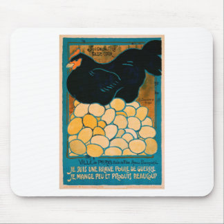 French War Propaganda Poster - Good Hen Mouse Pads