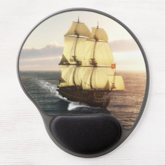 French Warship Gel Mouse Pad