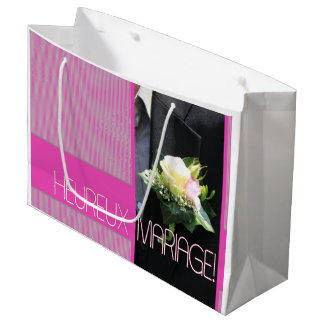 French Wedding congrats gift bag Large Gift Bag