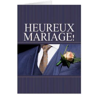 French Wedding congratulations Card