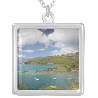 FRENCH WEST INDIES (FWI), Guadaloupe, Basse, Square Pendant Necklace