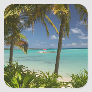 French West Indies, Guadaloupe, Grande Terre, 2 Square Sticker