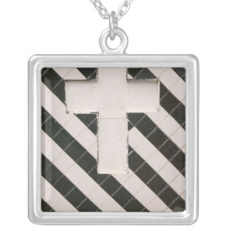 French West Indies, Guadaloupe, Grande Terre, Square Pendant Necklace