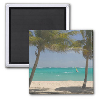 French West Indies, Guadaloupe, Marie, Galante 2 2 Inch Square Magnet
