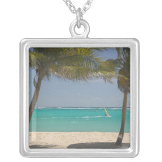 French West Indies, Guadaloupe, Marie, Galante 2 Square Pendant Necklace