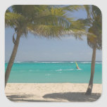 French West Indies, Guadaloupe, Marie, Galante 2 Square Sticker
