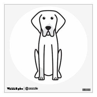 French White and Black Hound Dog Cartoon Wall Sticker