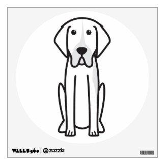 French White and Orange Hound Dog Cartoon Room Stickers