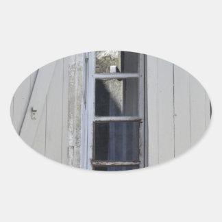 French Window Oval Sticker