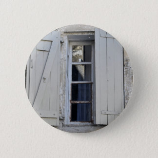 French window pinback button