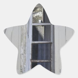 French Window Star Sticker