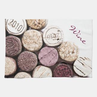 french wine bottle corks kitchen towels