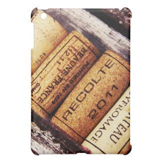 french wine bottle corks on rustic wood iPad mini case