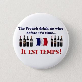 French Wine Drinkers Pinback Button