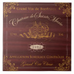 "French Wine Label Tile:Bordeaux Tile<br><div class=""desc"">&#169;Fiona Stokes Gilbert All RIghts Reserved</div>"