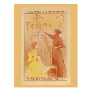 French Women's art exposition vintage Postcard