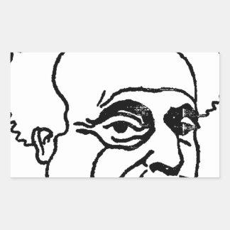 French writer Alexandre Dumas by Felix Vallotton Rectangular Sticker