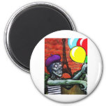 French Zombie Mime 2 Inch Round Magnet