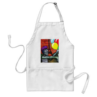 French Zombie Mime Adult Apron