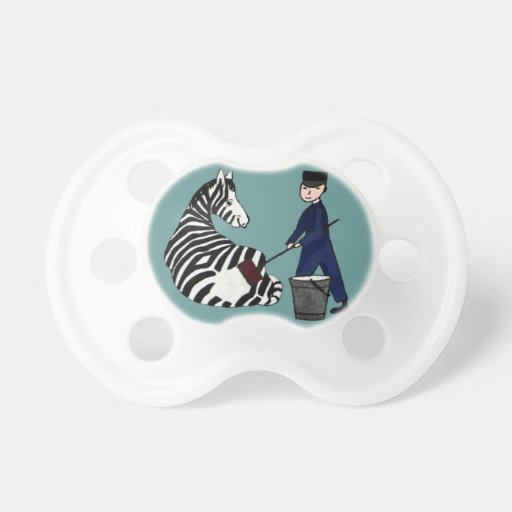 French Zookeeper Zebra Funny Stripes Vintage Baby Pacifier