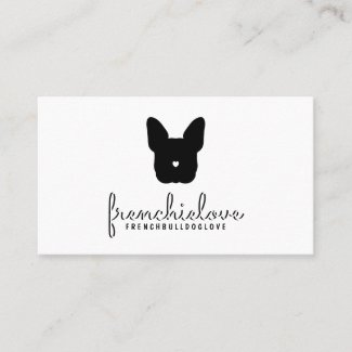 Frenchbulldog frenchies bulldogs pug dog puppy business card