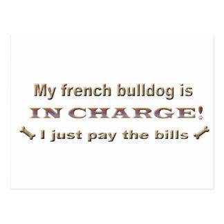 frenchbulldog postcard